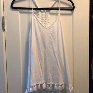 White Racerback Lilly Pulitzer Tank Top